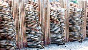 Scaffold warehouse Stock Image