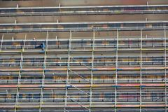 Scaffold worker at his job Stock Photo