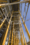Scaffold yellow cage Stock Images