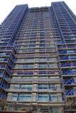 scaffolded摩天大楼 免版税库存照片