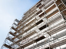 Scaffolding. At a plattenbau in munich/germany Royalty Free Stock Photo