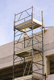 Scaffolding. In a building site royalty free stock image