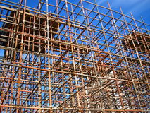 Scaffolding. For the viaduct, which is used for the construction of No.5 subway in Beijing, China royalty free stock photo
