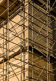 Scaffolding. On an old building stock images