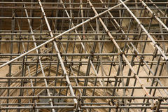 Scaffolding. Over an old building royalty free stock image