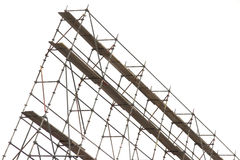 Scaffolding. Against the gray/white sky Stock Photography