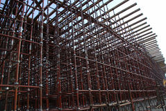 Scaffolding. A construction site with scaffold Stock Photo