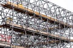 Free Scaffolding Accesss On A Contruction Or Building Site With No People Stock Photos - 215118923