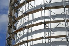 Scaffolding all over Royalty Free Stock Image