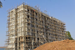 Scaffolding on apartment building. Inthailand Stock Photo
