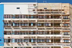 Scaffolding around the building Stock Image