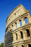 Scaffolding around Colosseum Rome Royalty Free Stock Images