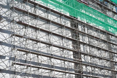 Scaffolding with Green Net Royalty Free Stock Photography