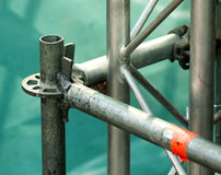 Scaffolding as Safety Equipment on a Construction Site Royalty Free Stock Photography