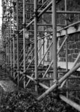 Scaffolding, bleak and grey. royalty free stock photos