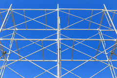Scaffolding on blue sky Stock Images