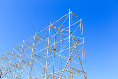 Scaffolding on blue sky Royalty Free Stock Image