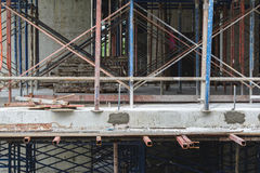 Scaffolding building construction. Scaffolding in the building construction royalty free stock photo