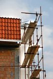 Scaffolding on building corner Stock Photo