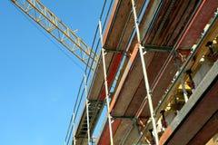 Scaffolding. On a building facade Stock Photo