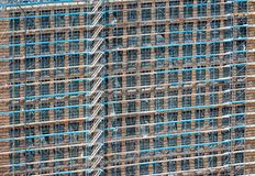 Scaffolding at a building facade royalty free stock image