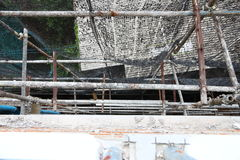 Scaffolding. On Building job thailand Stock Images