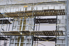 Scaffolding on building a multi-storey office building Stock Image