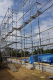 Scaffolding for building a new house Royalty Free Stock Photos