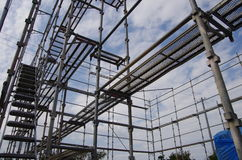 Scaffolding for building a new house Royalty Free Stock Photo