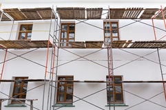 Scaffolding for building reconstruction Stock Photography