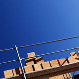 Scaffolding on building site Royalty Free Stock Image