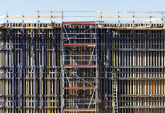 Scaffolding on building site Royalty Free Stock Photography
