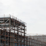 Scaffolding on building site Stock Image