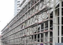 Scaffolding on a building site royalty free stock photos