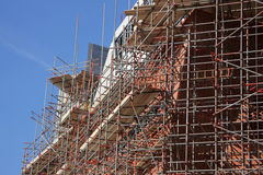 Scaffolding on a building site Stock Images