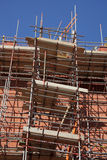 Scaffolding on a building site Royalty Free Stock Photo