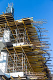Scaffolding on building site Stock Photos
