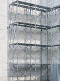 Scaffolding with building, Steel construction stock photos