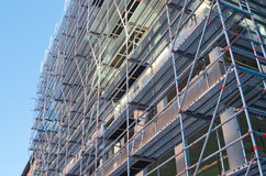 Scaffolding building under construction Royalty Free Stock Photos