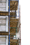 Scaffolding on a building wall Royalty Free Stock Images