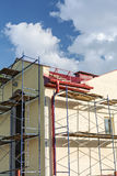 Scaffolding on a building wall Stock Photo