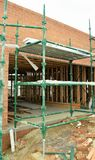 Scaffolding at building worksite. Royalty Free Stock Photo