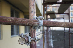Scaffolding clamps Royalty Free Stock Image