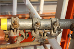 Scaffolding clamps Stock Photo