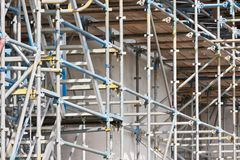 Scaffolding of a concrete construction Royalty Free Stock Photography