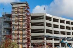 Scaffolding at a Concrete Construction Site stock photos