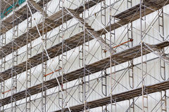 Scaffolding for construct a building under construction. Royalty Free Stock Photo