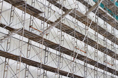 Scaffolding for construct a building under construction. Royalty Free Stock Photos