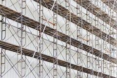 Scaffolding for construct a building under construction. Stock Photos