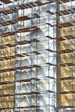 Scaffolding construction Stock Photo
